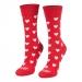 Ponožky srdiečka červené dlhé