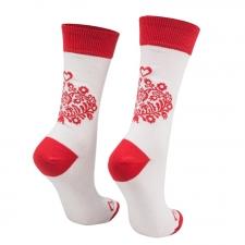 Detail produktu Ponožky biele ľudové srdiečko