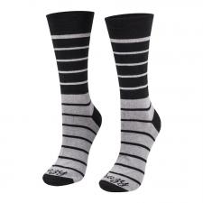 Detail produktu Ponožky pásiky čierno - šedé