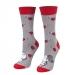 Ponožky valentínski smajlíkovia