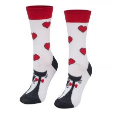 Detail produktu Ponožky valentínske mačičky