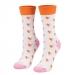 Ponožky srdiečka ružové dlhé