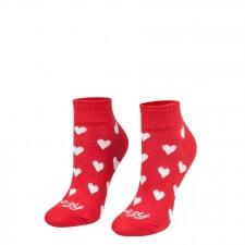 Detail produktu Ponožky Srdiečka červené krátke