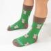 DETSKÉ ponožky sovička zelená